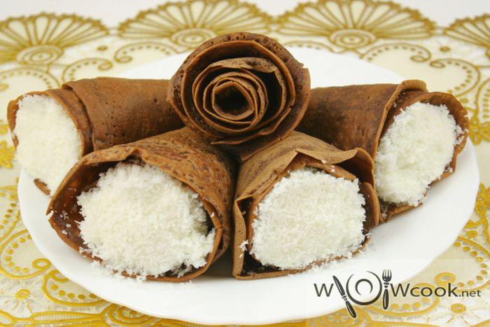 шоколадные рожки