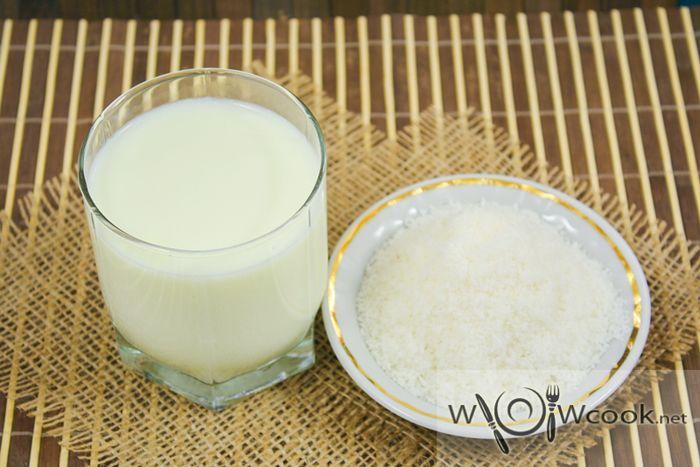 Кокосовое молоко и стружка