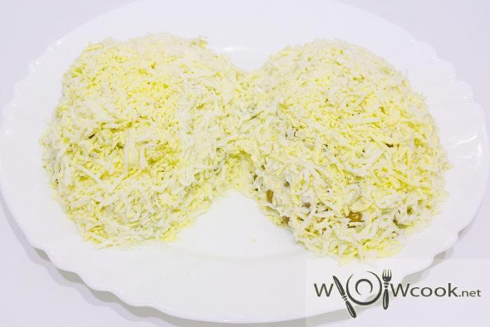 новогодний салат Шишка