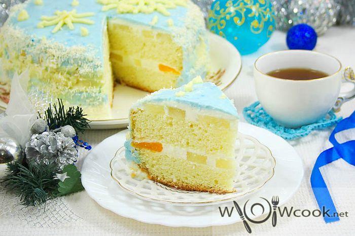 новогодний торт зимняя сказка