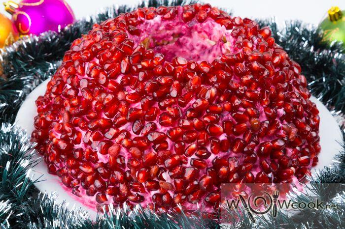 новогодний салат гранатовый браслет
