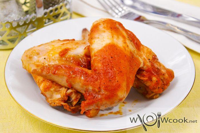 Куриные крылья в медовом маринаде