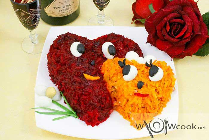 салат влюбленные сердца рецепт