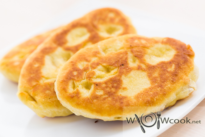 жареные пирожки с картошкой из теста на кефире