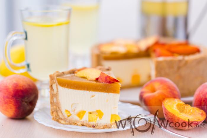 Рецепт вкусного торта с персиком