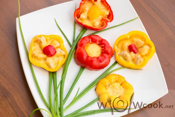 цветочки из болгарского перца рецепт
