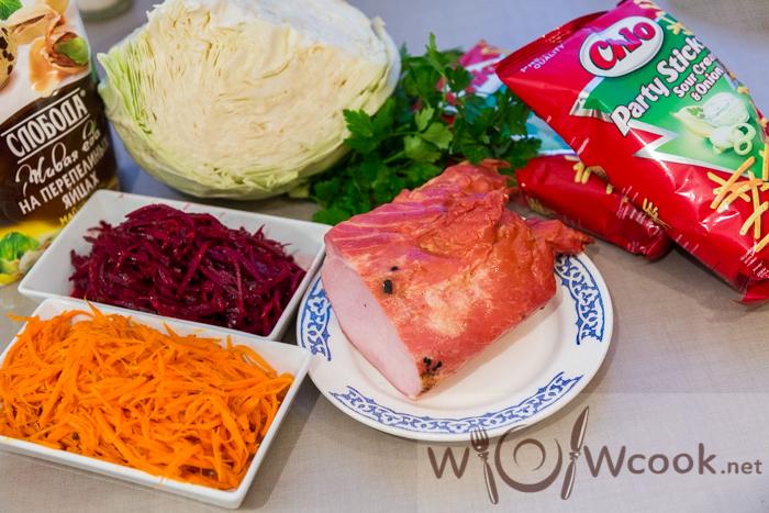 татарский салат приготовление