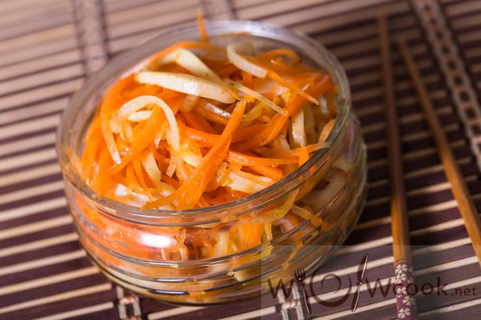 салат с кальмарами и морковкой рецепт с пошаговыми фото