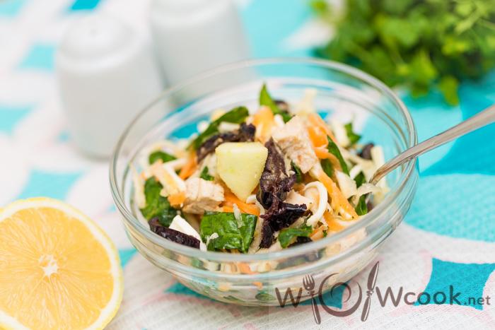 Вкусный салат с сельдереем и яблоком рецепт с фото