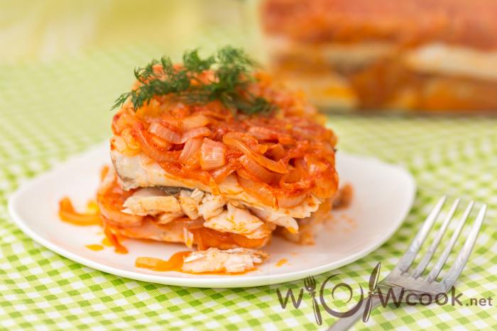 вкусная рыба в томатном соусе
