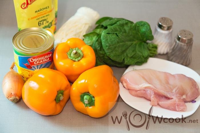 ингредиенты салат с болгарским перцем