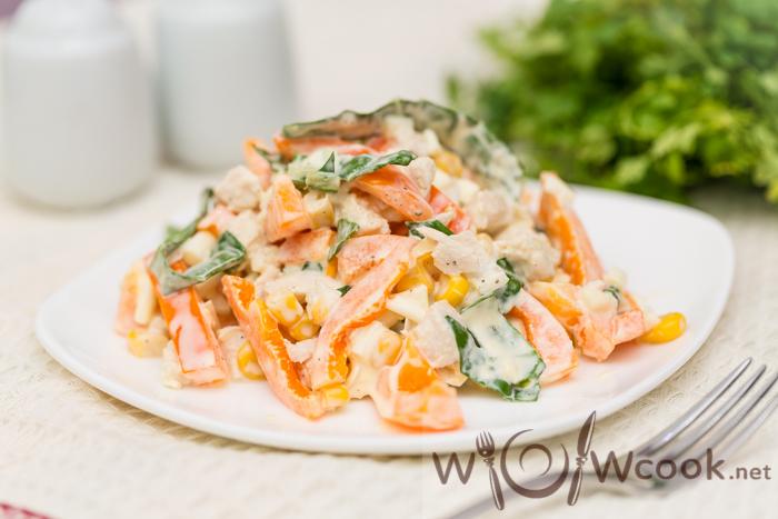 готовим салат с болгарским перцем и курицей