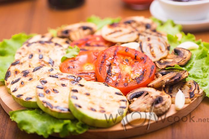 овощи гриль на мангале