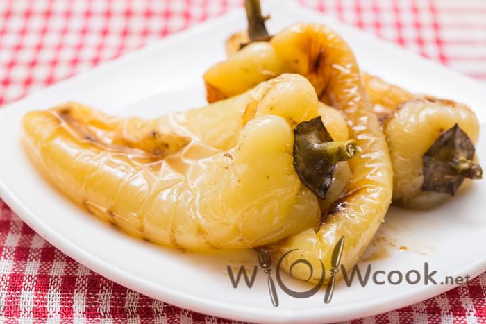 болгарский перец обжаренный на сковороде