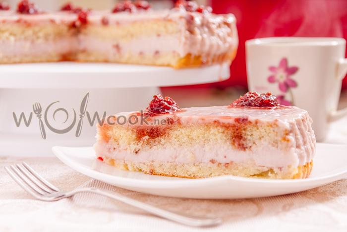 нежный торт с желе