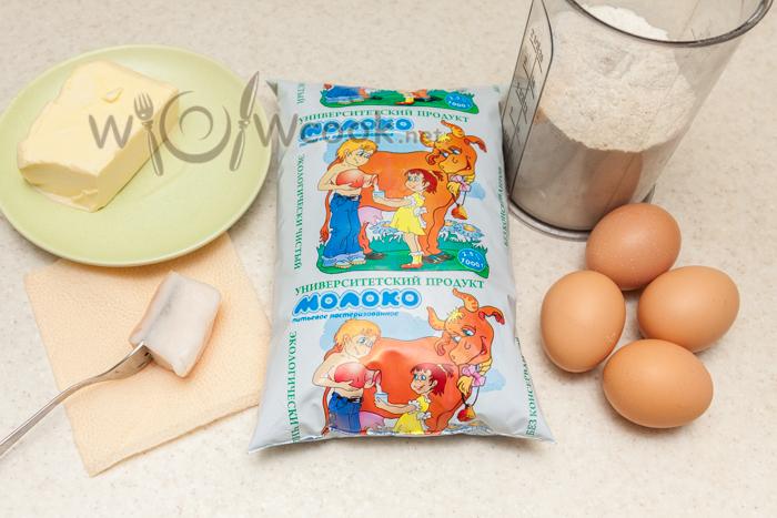блинчики с печенью, пошаговый рецепт с фото - ингредиенты