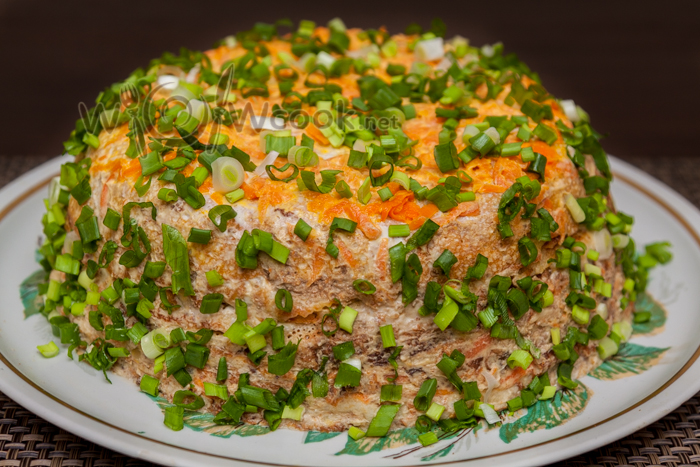 Блинный пирог с капустой рецепт 4