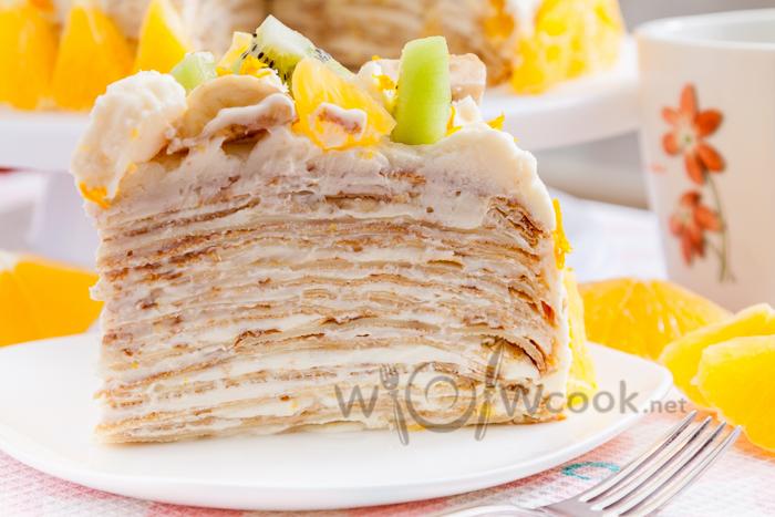 самый вкусный блинный торт