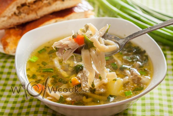 Куриный суп с домашней лапшой рецепт