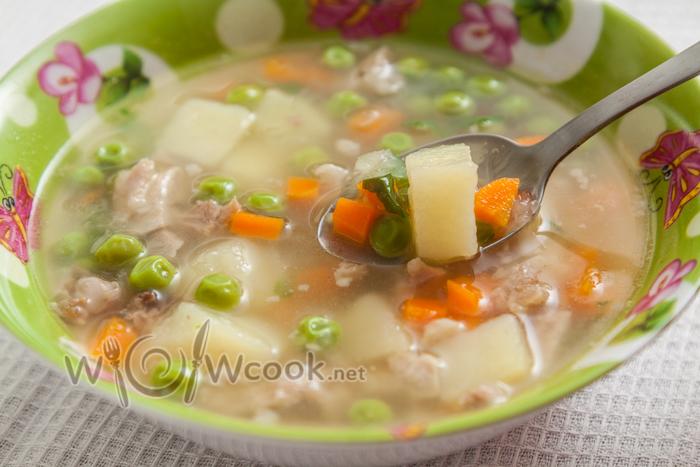 суп с овощами и кроликом