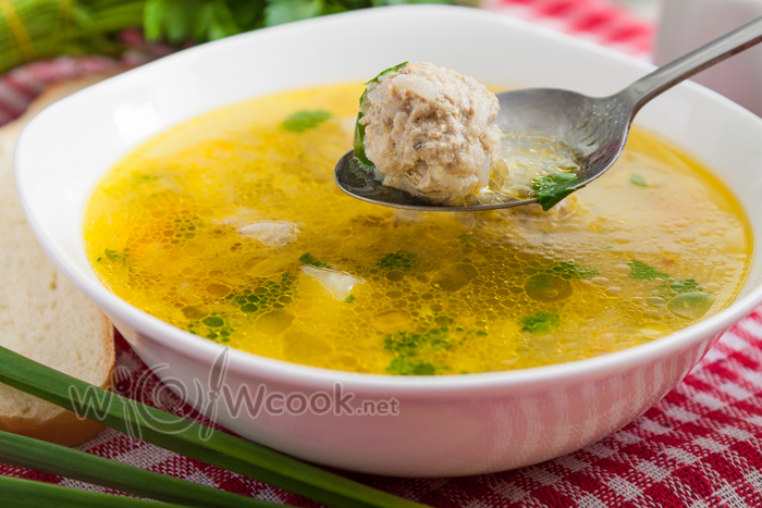 рецепт супа с фрикадельками из фарша
