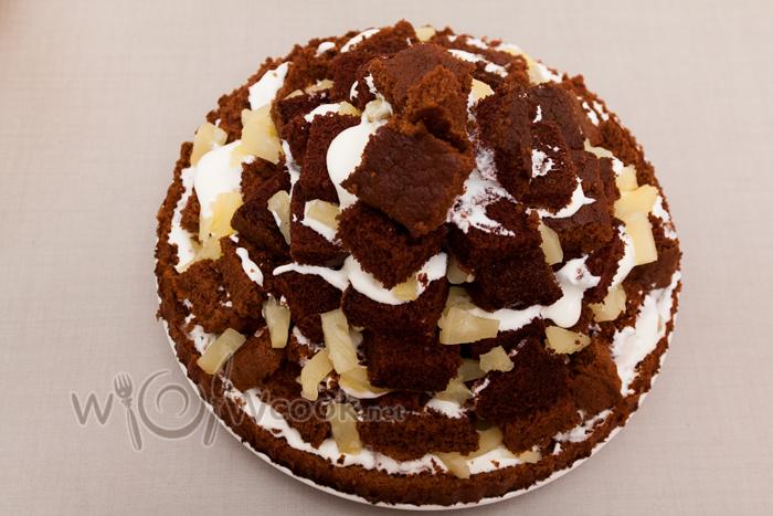 выложили горку для торта