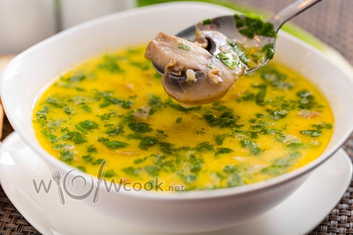 Рецепт грибного супа с плавленным сыром