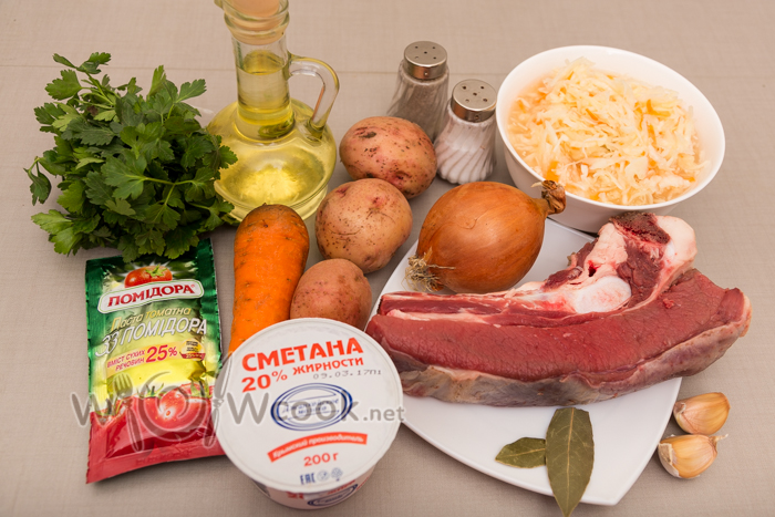 как приготовить солянку с картошкой и капустой и мясом в кострюле