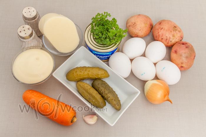как приготовить салат сугробы