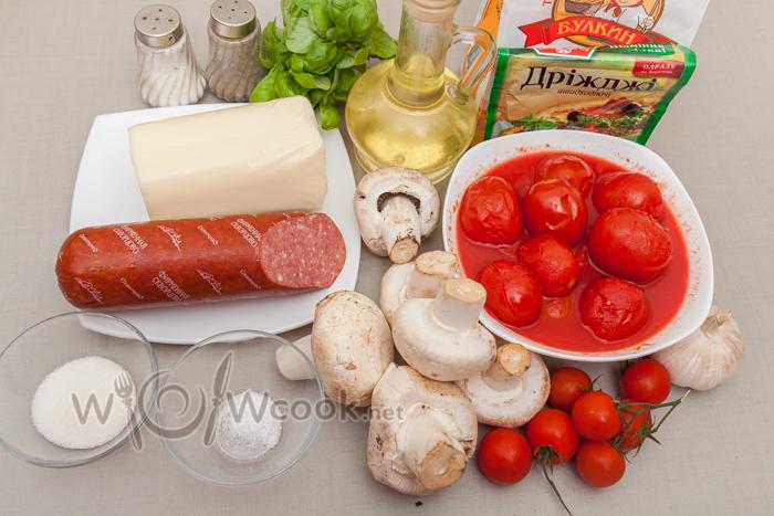 пицца с салями рецепт с фото пошагово