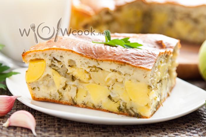 как приготовить заливной пирог с картошкой рецепт с фото