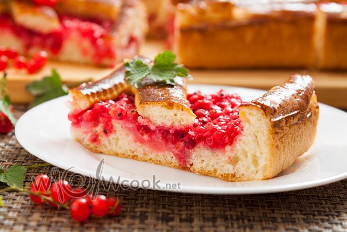 пирог с красной смородиной рецепт с фото