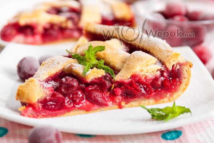 песочный пирог с вишней рецепт с фото