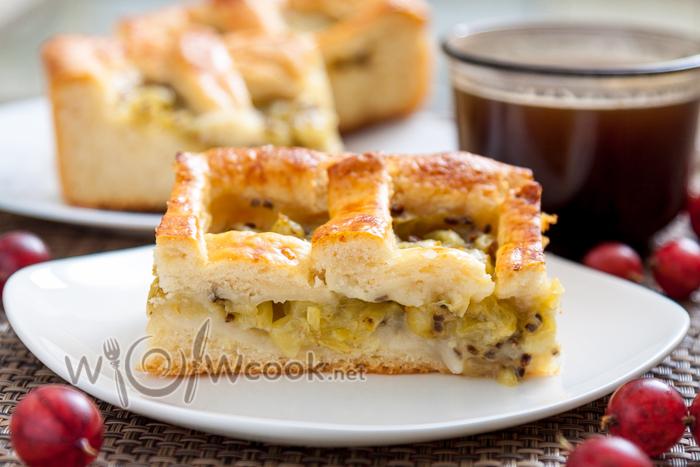 Пирог с крыжовником, вкусный рецепт с фото
