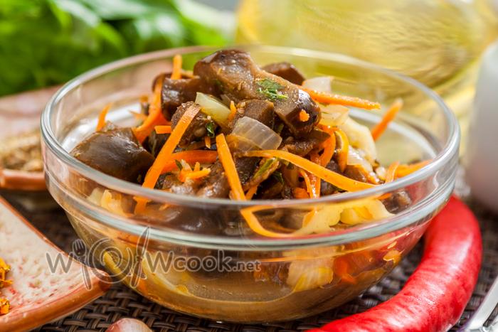 баклажаны с морковью по-корейски пошагово с фото
