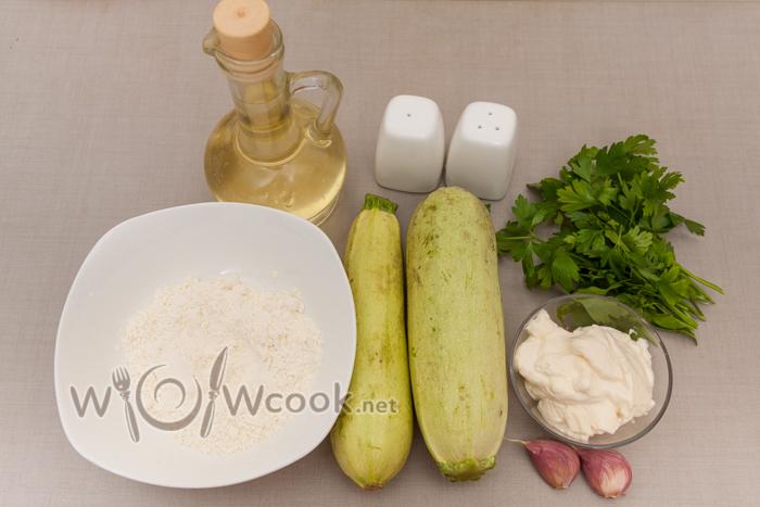 жареные кабачки, ингредиенты