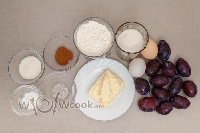 сливовый пирог ингредиенты