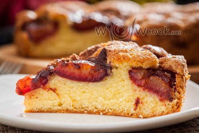 рецепт сливового пирога пошагово с фото