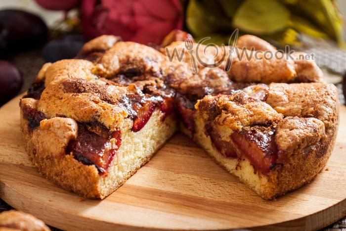сливовый пирог рецепт с фото