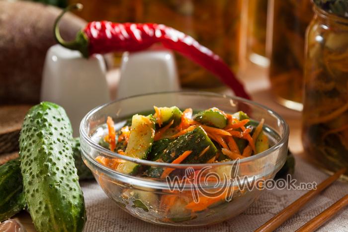 огурцы с корейской морковью рецепт на зиму