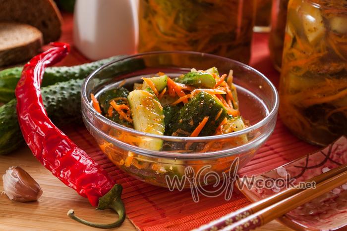 Огурцы по-корейски, самый вкусный рецепт