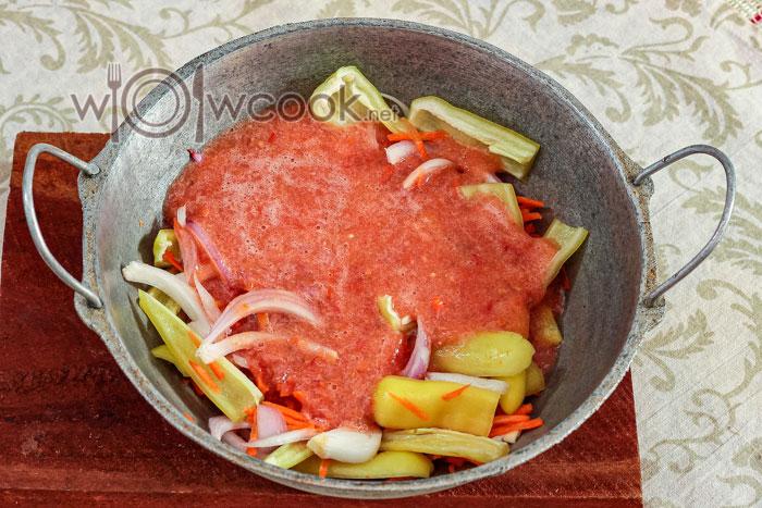 овощи с томатом