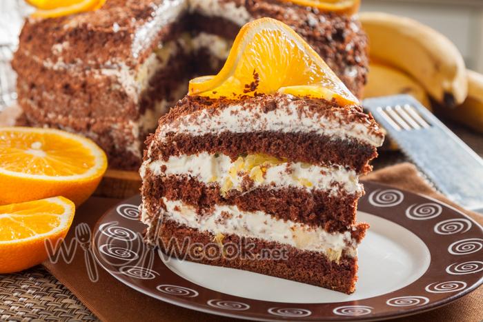 простой рецепт бисквитного торта со сметанным кремом