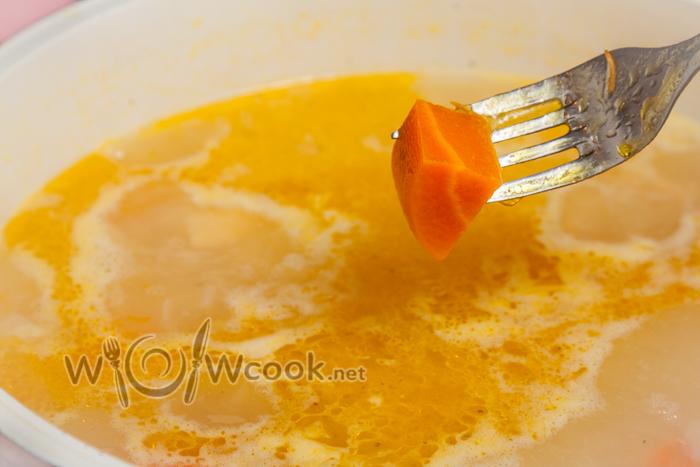 морковь легко протыкается вилкой