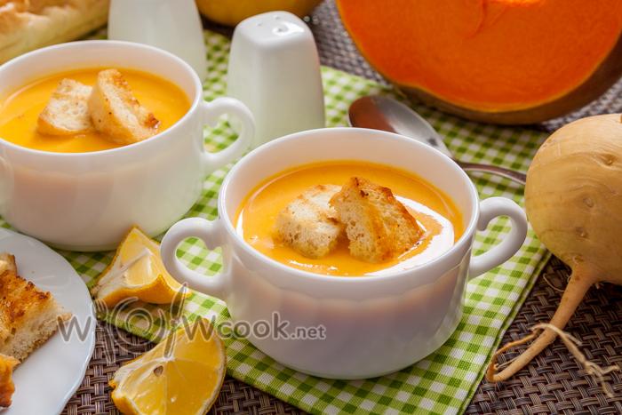 вкусный суп-пюре из тыквы
