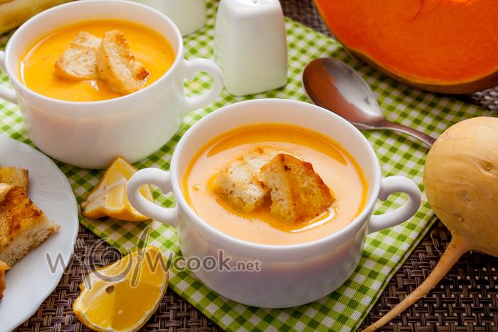 Крем-суп из тыквы со сливками, рецепт с фото