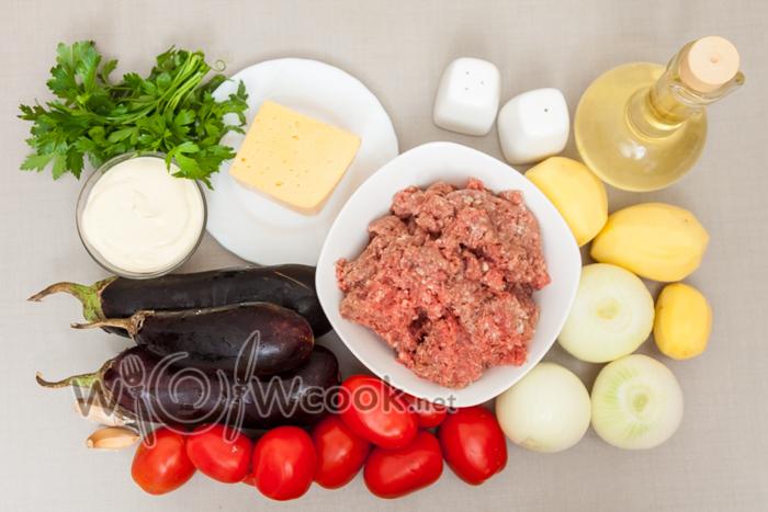 фарш в духовке, ингредиенты