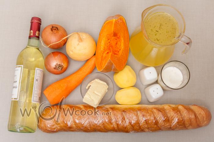 из чего готовится крем-суп с тыквой