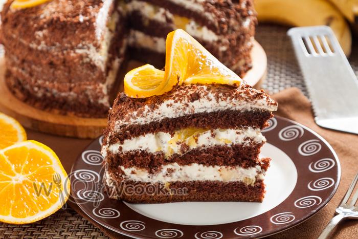 Бисквитный торт, очень вкусный и простой рецепт.