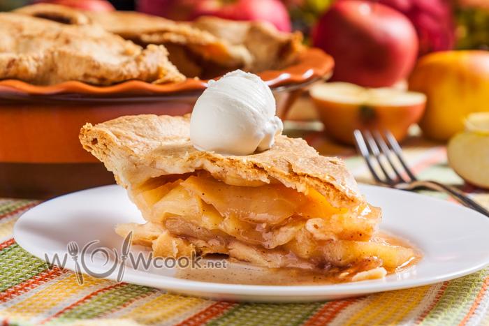Американский яблочный пирог, рецепт классический